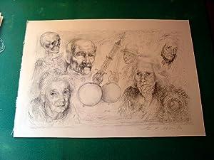 Lithographie originale de LUCIENPHILIPPE MORETTI en noir, signéepar: Lithographie de
