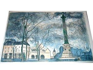 """Lithographies originale en couleurs sur Vélin d""""Arches de Roger: Lithographie de"""