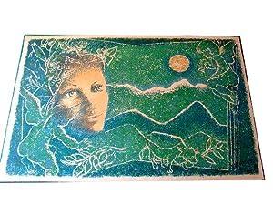 Lithographies originale en couleurs sur Vélin d'Arches signée au crayon: Lithographie de