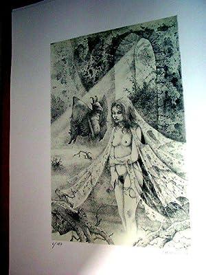 """Lithographie originale sur Vélin d""""Arches numérotée 6/187 et sign&..."""