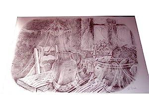 """Lithographie originale sur Vélin d""""Arches signée au crayon de Jean-Pierre Stholl..."""