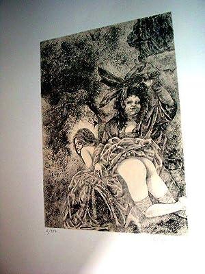 """Lithographie originalesur Vélin d""""Arches numérotée 6/187 etsignée: Lithographie de"""