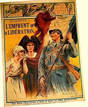Affiche lihographie couleur signée Royer Henri Paul. MARNEYSER: ROYER