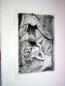 Très belle pointe sèche originale de Paul-Émile Bécat sur Vélin ...