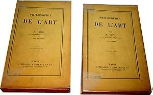 Philosophie de l'Art. Tome 1 et Tome 2.: TAINE (H.).