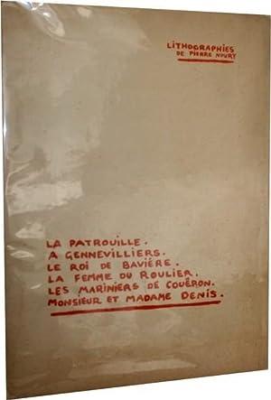 Lithographies. La patrouille à Genevilliers-Le roi de Bavière-La femme du Roulier-Les...