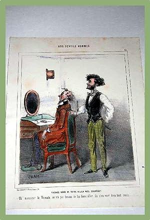 Lithographie en couleurs début XIX ème CHAMNos Gentils Hommes :: CHAM (pseudo Amédée