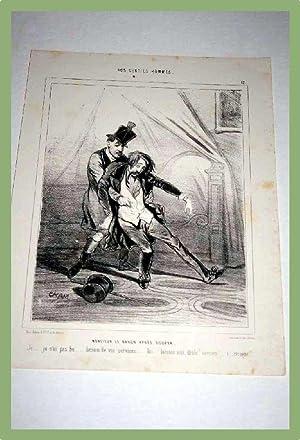 Lithographie début XIX ème CHAMNos Gentils Hommes : Monsieur le: CHAM (pseudo Amédée