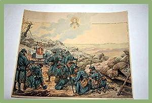 Très Belle gravure en couleur représentant des soldats.: GRAVURE - JOB