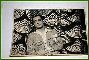 Photo originale, tirage argentique dédicacée de l'acteur français: ...