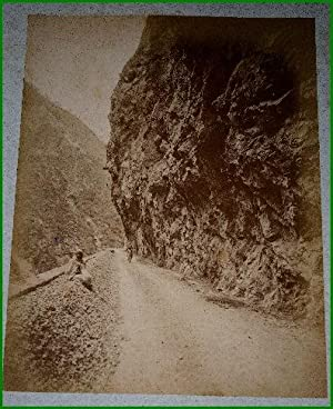 Grande photographie anciennes originale (Vers 1880). Tirage albuminé: ALGERIE