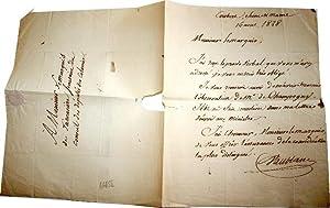Vincent Marie de VAUBLANC (17561845), ministre de l'Intérieur : L.A.S.: Lettre autographe