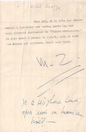 Ernest PRAROND : Longue lettre autographe signée intéressante sur son travail Les ...