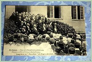 SAINT AIGNAN SUR CHER Fêtes de la Mutualité le 18-19 Juillet 1909 -Allocution de M. le...