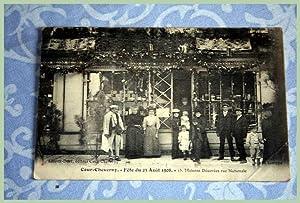COURCHEVERNY Fêtes du 23 Août 1908 13. Maisons Décorées rue: Carte ...