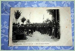 COUR-CHEVERNY Fêtes du 23 Août 1908 - Revue des Sapeurs Pompiers.: Carte Postale ...