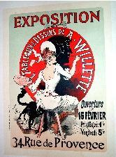 Maitres de l'Affiche, EXPOSITIONDE TABLEAUX &DESSINS de: CHERET (Jules).