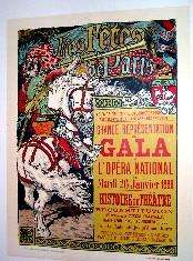 Maitres de l'Affiche Les Fetes de Paris. Maitres de l'Affiche, 1885, Planche 50.: GRASSET...