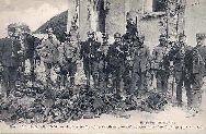 104GUERRE DE 1914.A Neufmoutiers près de Meaux.Soldats: Carte Postale