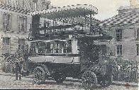 Omnibus automobile de la compagnie Générale des Omnibus. Système Eugène: Carte Postale