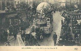 MICAREME 1912Char du Comité des Fêtes du X.: Carte Postale