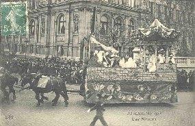 MI-CAREME 1908 - Char Marocain.: Carte Postale Ancienne - 75 - PARIS - EVENEMENTS