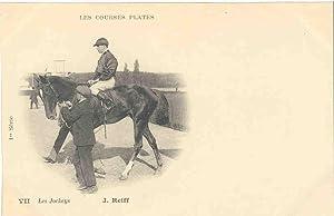 LES COURSES PLATES. VII.Les jockeys. J.REIFF.1ère série.: Carte Postale
