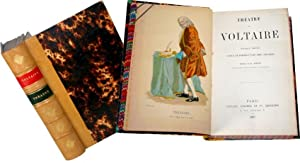 Théâtre orné de portraits en pied coloriés par M.Geffroy.: VOLTAIRE