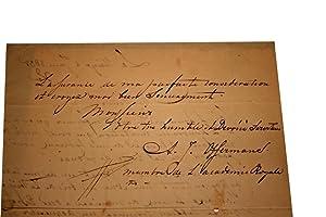 Lettre Autographe Signée datée du 2 Juin 1835 à La Haye adressée au ...