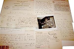 Lot très interessant de 17 L.A.S : Lettres Autographes Signées.: BAC Ferdinand (de