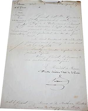 Lettre Autographe Signée adressée au Prince de Moskowa lui réclamant: VAILLANT