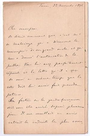 Lettre autographe signée de l' écrivain et théologien Giuseppe ROBERTI: ...