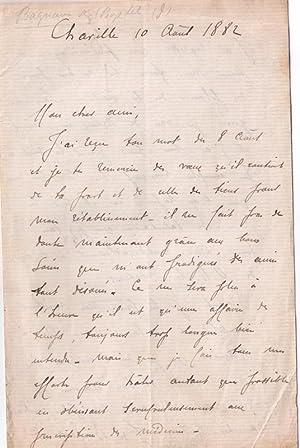 Lettre autographe signée de Joseph-Charles Boyetet de Bagnaux à un ami, 3 mois avant ...