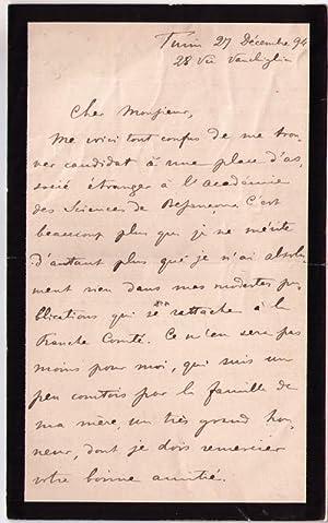 Lettre autographe signée de l' écrivain et théologien Giuseppe ROBERTI ...