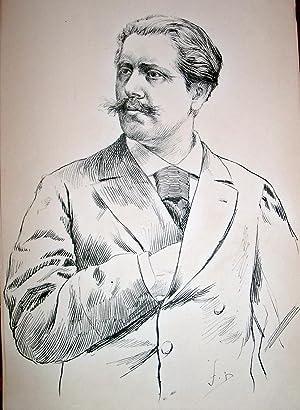 Très beau dessin original encre de chine signé Fernand DESMOULIN.: DESMOULIN (Fernand...