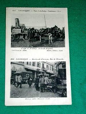 151Type d'Arabadgi . Camionneur Grec. 300Marchands d'oranges, Rue: Carte Postale