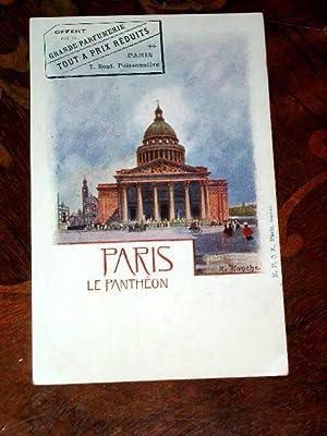 PARIS - LE PANTHEON. OFFERT PAR LA: Carte Postale Ancienne