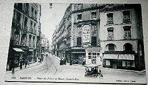 186. NANTES - LA PLACE DU PILORI ET HAUTE GRANDE RUE: Carte Postale Semi-Moderne - 44 - ...