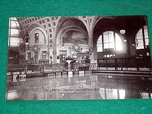 Paris-Venise, Inondations 1910, Intérieur de la Gare: Carte Postale Ancienne