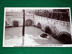 PARIS INONDE (Janvier 1910). La Fosse aux: Carte Postale Ancienne