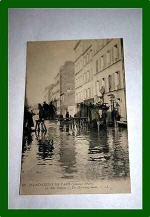 63. INONDATIONS de PARIS (Janvier 1910) -: Carte Postale Ancienne