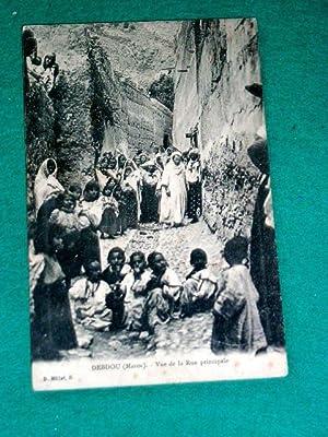 DEBDOU (Maroc). Vue de la Rue Principale. Très animée.: Carte Postale Ancienne - ...