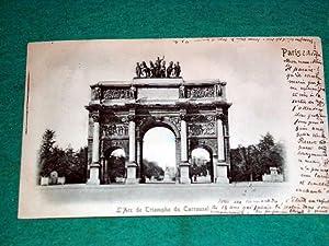 Carte Postale Ancienne - L'Arc de Triomphe: Carte Postale Ancienne