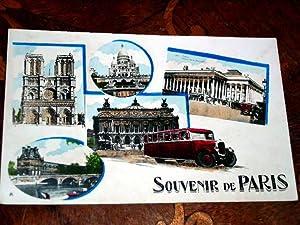 SOUVENIR DE PARIS. Carte postale colorisée.: Carte Postale Ancienne
