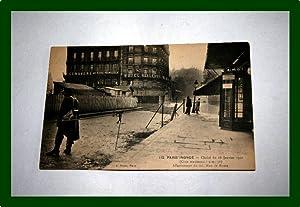 Le XVè arrondissement inondé (Janvier 1910). La: Carte Postale Ancienne