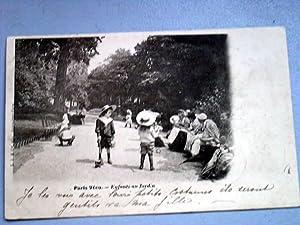Paris Vécu. Enfants au jardin.: Carte Postale Ancienne
