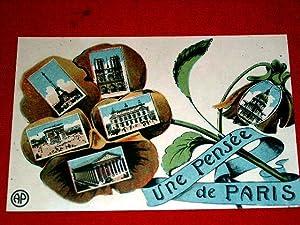 UNE PENSEE DE PARIS.: Carte Postale Ancienne