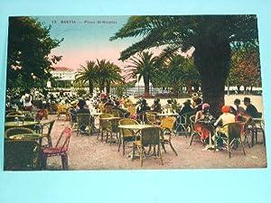 12BASTIA. Place StNicolas. Carte colorisée.: Carte Postale