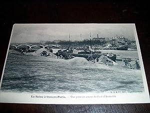 La Seine à travers Paris. Vue prise: Carte Postale Ancienne
