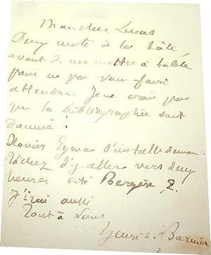 Lettre Autographe Signée: BORNIER (Henri de).